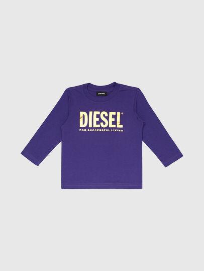 Diesel - TJUSTLOGOB-FL ML-R, Viola - T-shirts e Tops - Image 1
