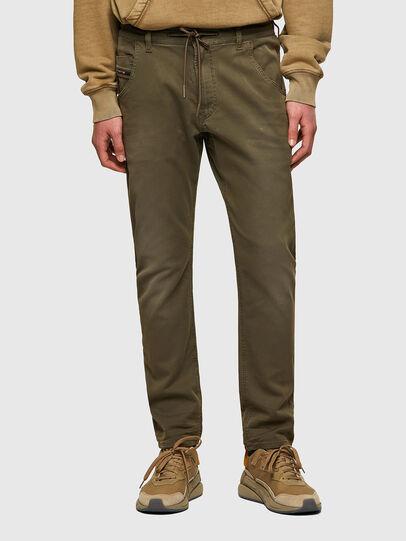 Diesel - Krooley JoggJeans® 0670M, Verde Scuro - Jeans - Image 1