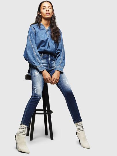 Diesel - Babhila 0091Y, Blu medio - Jeans - Image 4