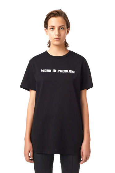 T-shirt Green Label WORK IN PROBLEM
