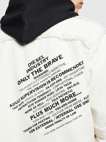 Diesel - D-KURTIS, Bianco - Camicie in Denim - Image 8