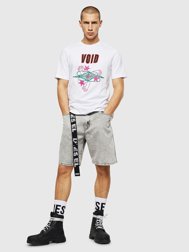 Diesel - T-JUST-A2, Bianco - T-Shirts - Image 4