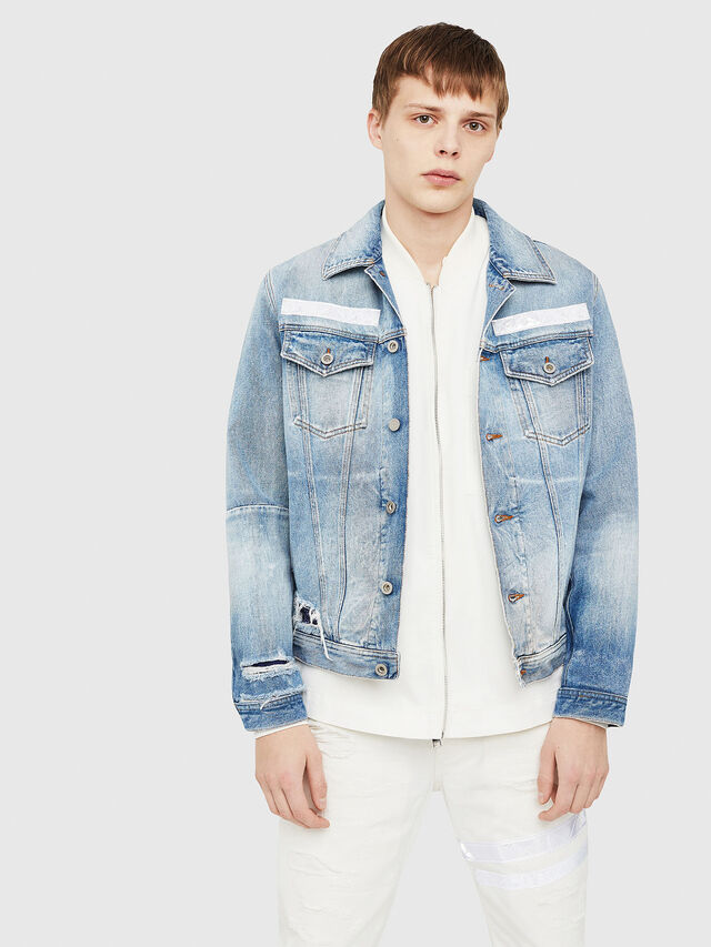Diesel - NHILL-TM, Blu Jeans - Giacche in denim - Image 1