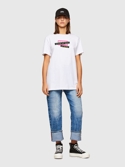 Diesel - T-DARIA-R2, Bianco - T-Shirts - Image 4