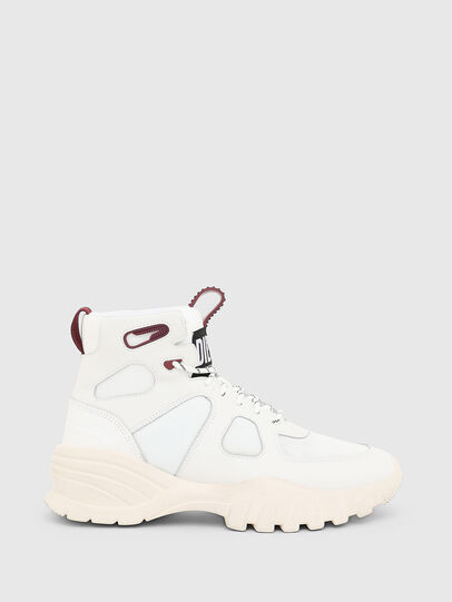 Diesel - S-SHARQUEZ MID, Bianco/Rosso - Sneakers - Image 4