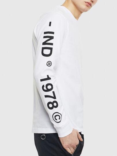 Diesel - T-JUST-LS-T14, Bianco - T-Shirts - Image 3