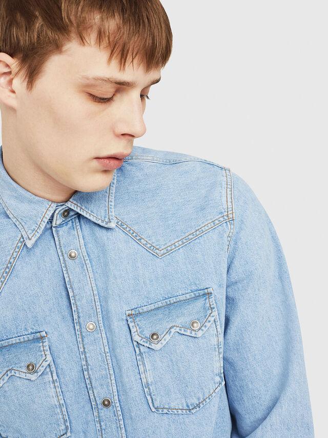 Diesel - D-LEO, Blu Jeans - Camicie in Denim - Image 3