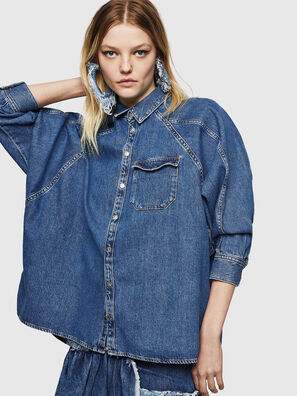 DE-NOVA, Blu medio - Camicie in Denim