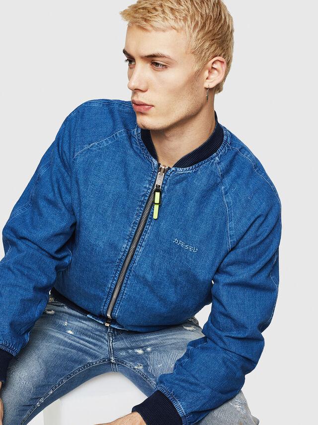 Diesel - D-BAK, Blu Jeans - Giacche in denim - Image 5