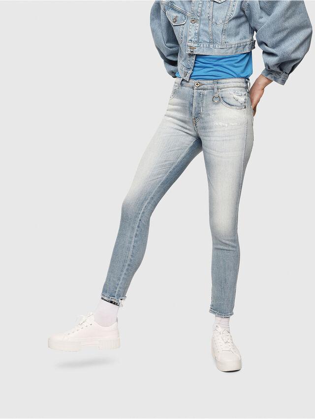 Diesel - Babhila 081AJ, Blu Chiaro - Jeans - Image 1