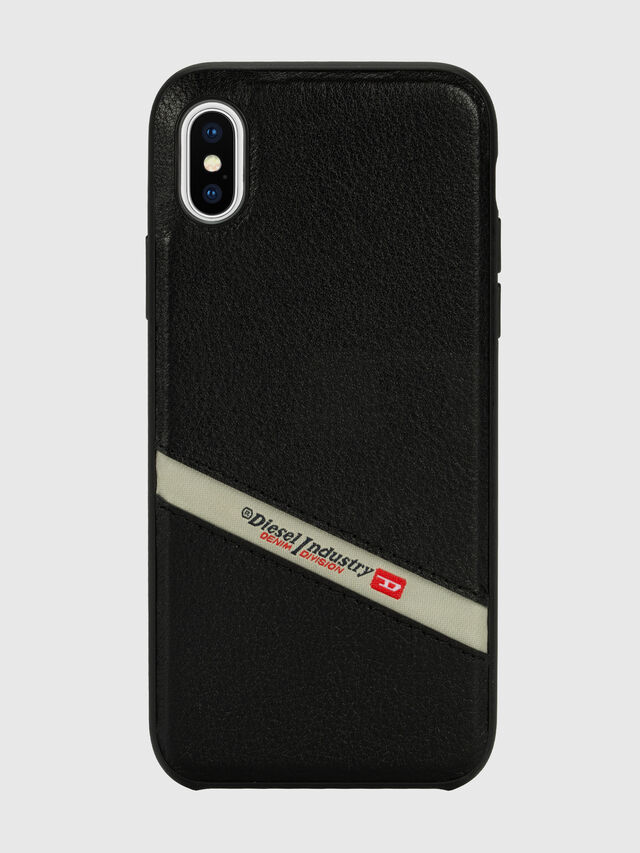 Diesel - DIESEL LEATHER CO-MOLD CASE FOR IPHONE XS MAX, Nero - Cover - Image 2