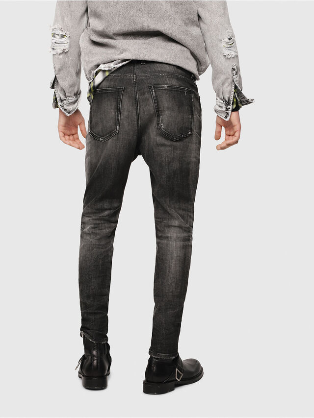 Diesel - D-Vider JoggJeans 0077S, Nero/Grigio scuro - Jeans - Image 2