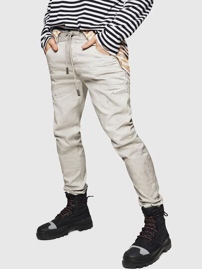 Diesel - Krooley JoggJeans 069GT, Grigio Chiaro - Jeans - Image 1
