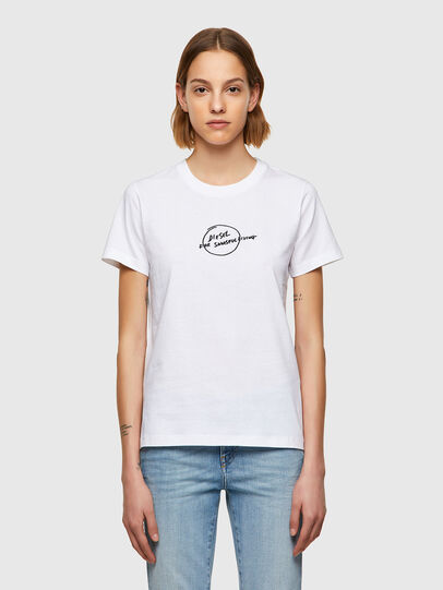Diesel - T-SILY-B8, Bianco - T-Shirts - Image 1