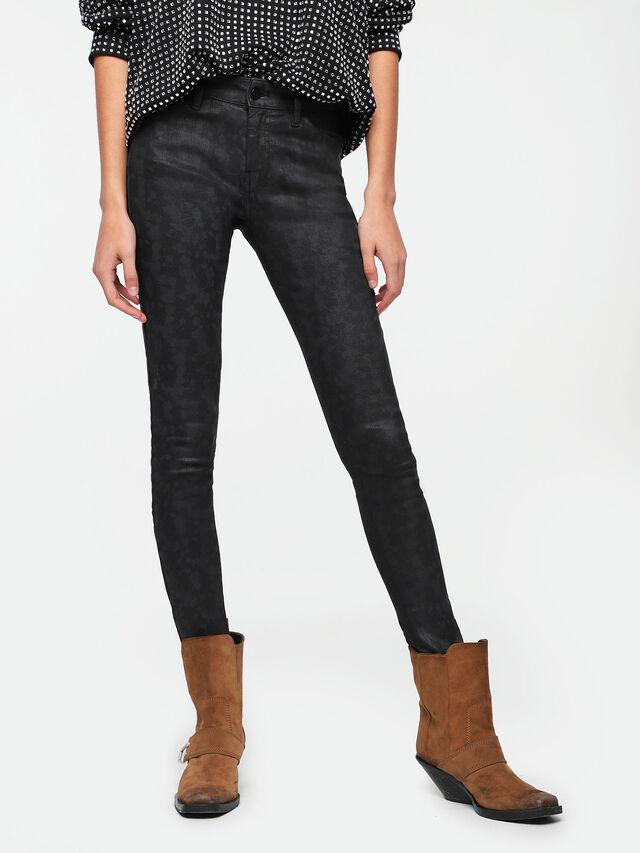 Diesel - Slandy Zip 085AX, Blu Scuro - Jeans - Image 1