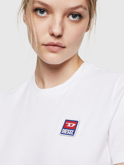 Diesel - T-SILY-ZE, Bianco - T-Shirts - Image 3