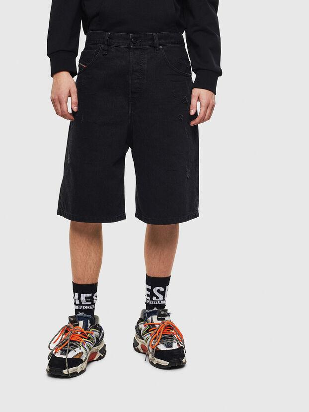 D-BRON, Nero/Grigio scuro - Shorts