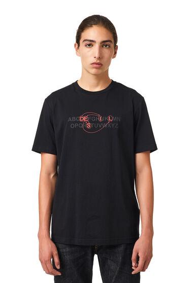 T-shirt con logo alfabeto