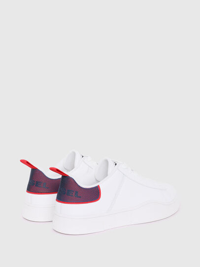 Diesel - S-CLEVER LOW LACE, Bianco/Rosso - Sneakers - Image 3