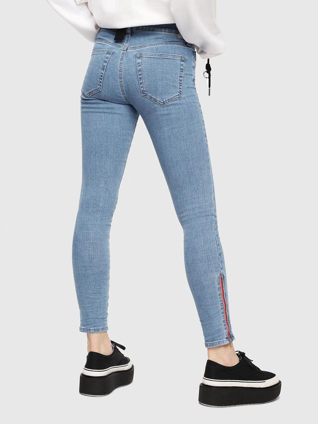 Diesel - Slandy Zip 069FN, Blu Chiaro - Jeans - Image 2