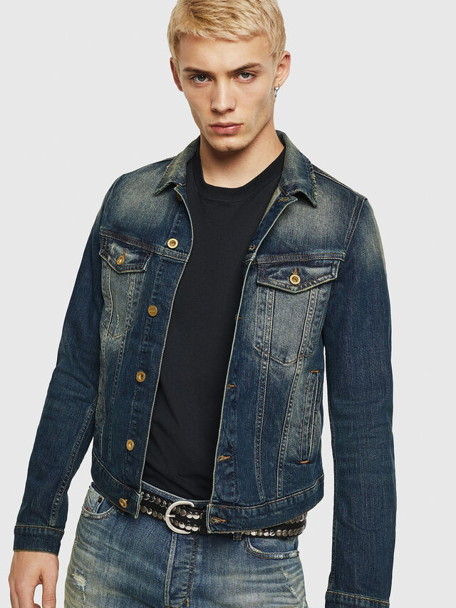 Diesel - D-GALY, Blu Scuro - Giacche in denim - Image 1