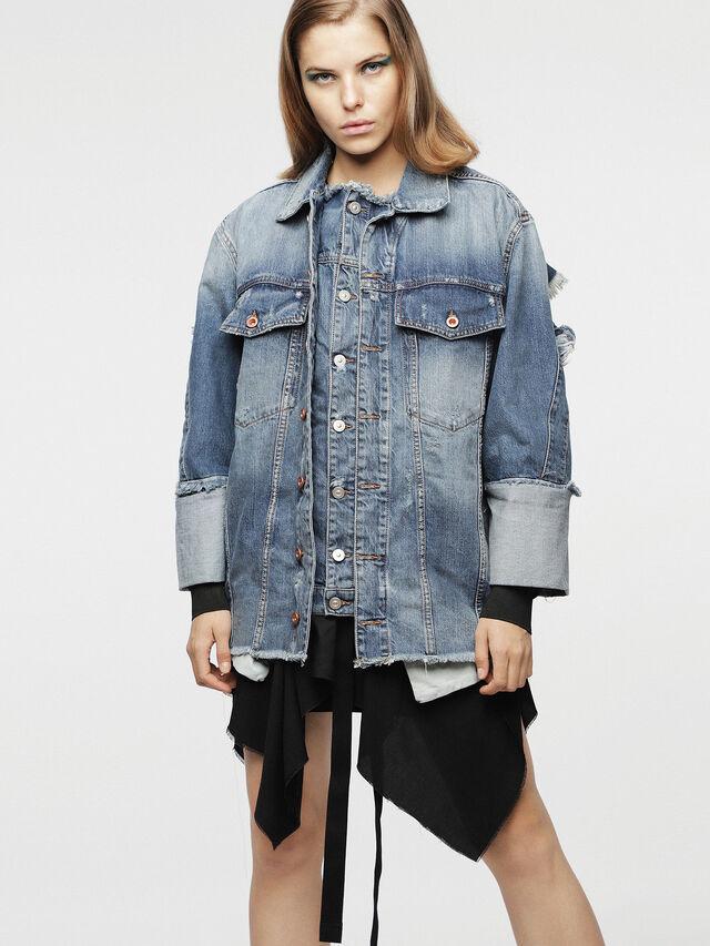 Diesel - DE-VISEMAC, Blu Jeans - Giacche in denim - Image 1