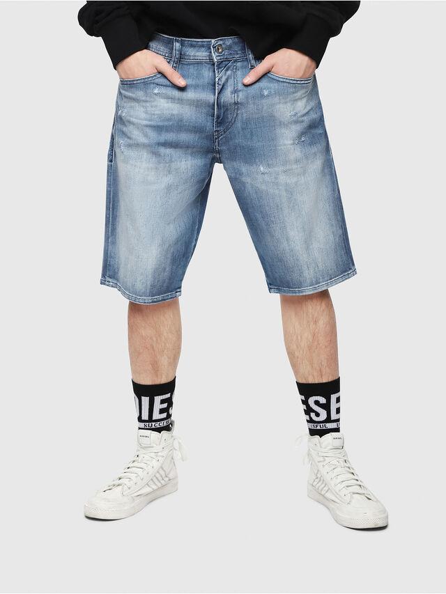 Diesel - THOSHORT, Blu medio - Shorts - Image 1
