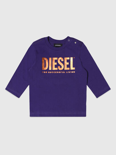 Diesel - TJUSTLOGOB-FL ML, Viola - T-shirts e Tops - Image 1