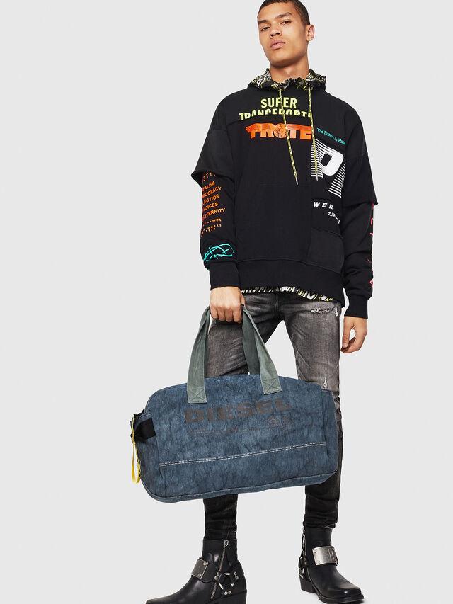 Diesel - D-THISBAG TRAVEL BAG, Blu Jeans - Borse da viaggio - Image 5