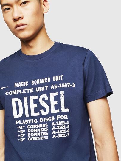 Diesel - T-DIEGO-B6, Blu - T-Shirts - Image 3
