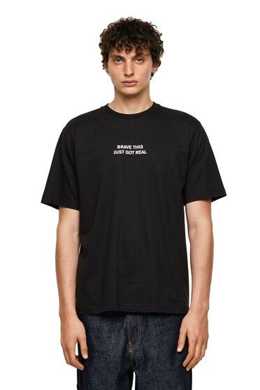 T-shirt con stampa di pantera