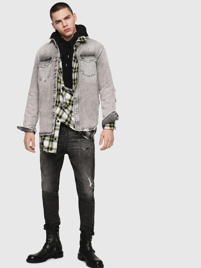 Diesel - D-Vider JoggJeans 0077S, Nero/Grigio scuro - Jeans - Image 6