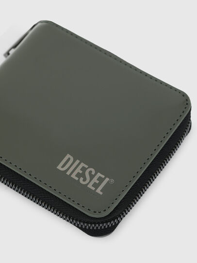 Diesel - HIRESH XS ZIPPI, Verde Militare - Portafogli Con Zip - Image 4