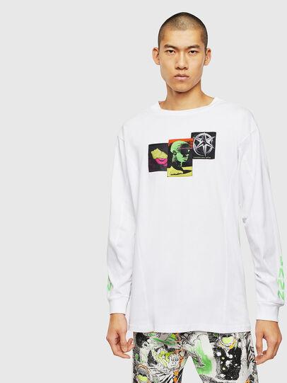 Diesel - T-GLYNIS-J1, Bianco - T-Shirts - Image 1