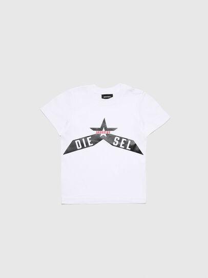 Diesel - TDIEGOA7B-R, Bianco - T-shirts e Tops - Image 1