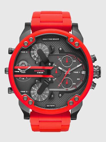 Mr. Daddy 2.0 orologio in metallo rosso, 55 mm