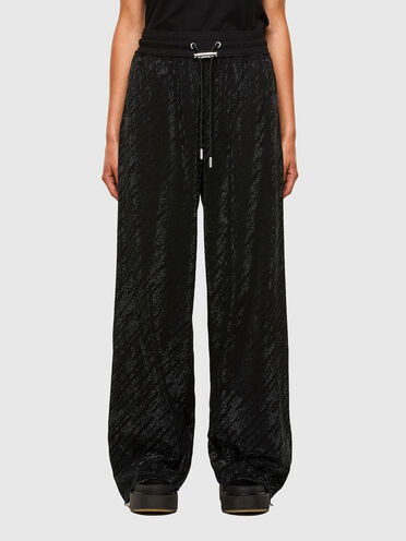 Pantaloni in jersey con micro borchie