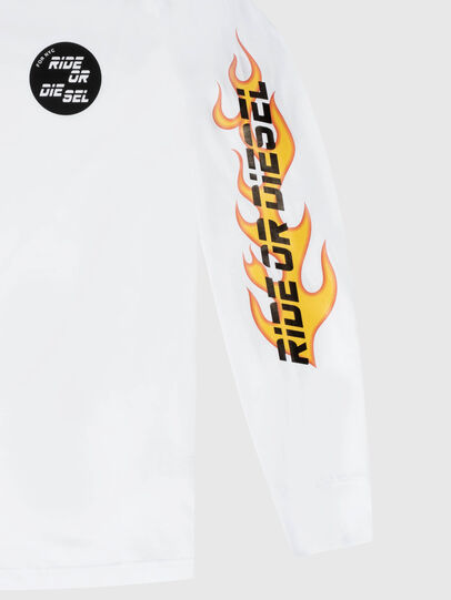 Diesel - US-T-JUST-LS-POP-MAR, Bianco - T-Shirts - Image 3