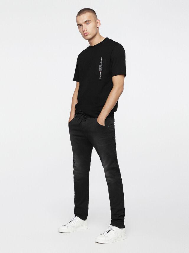 Diesel - Krooley JoggJeans 0670M, Nero Jeans - Jeans - Image 4