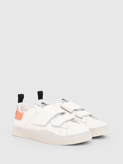 Diesel - S-CLEVER LOW STRAP W, Bianco/Rosa - Sneakers - Image 2