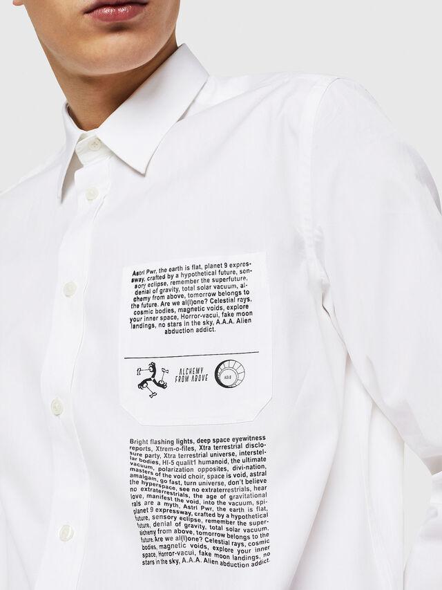 Diesel - S-VEN-PRINT, Bianco - Camicie - Image 2