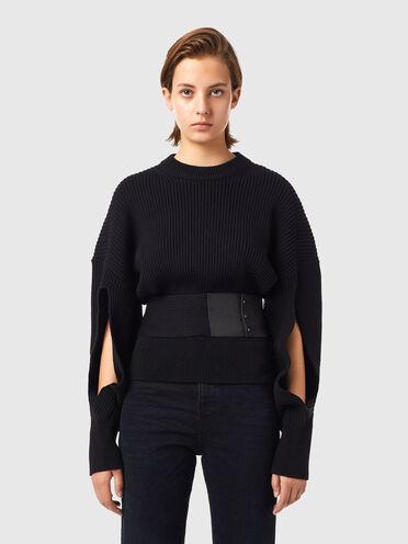 Pullover cut-out con cintura