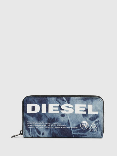 Diesel - 24 ZIP, Blu - Portafogli Con Zip - Image 1