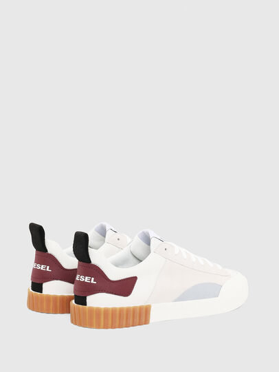 Diesel - S-BULLY LC, Bianco/Rosso - Sneakers - Image 2