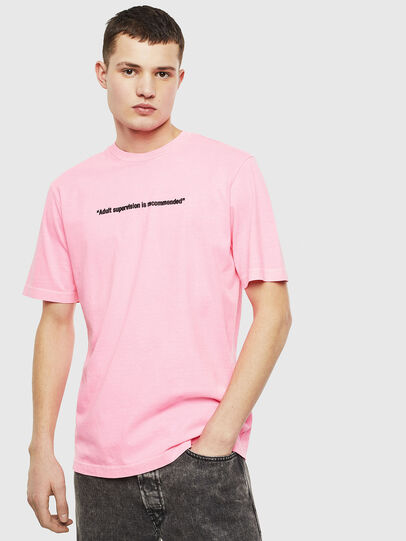 Diesel - T-JUST-NEON, Rosa - T-Shirts - Image 1