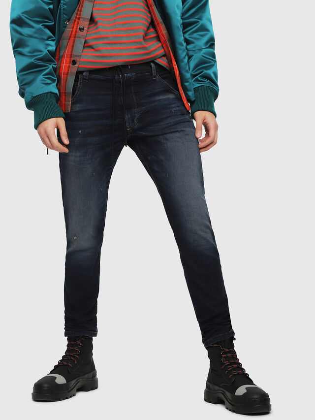 Diesel - Krooley JoggJeans 069DQ, Blu Scuro - Jeans - Image 1