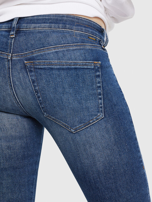 Diesel - Slandy Low 088AU, Blu medio - Jeans - Image 4