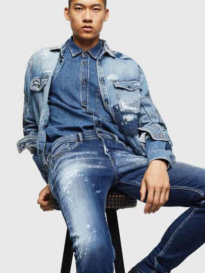 Diesel - Sleenker 0091Y, Blu medio - Jeans - Image 4