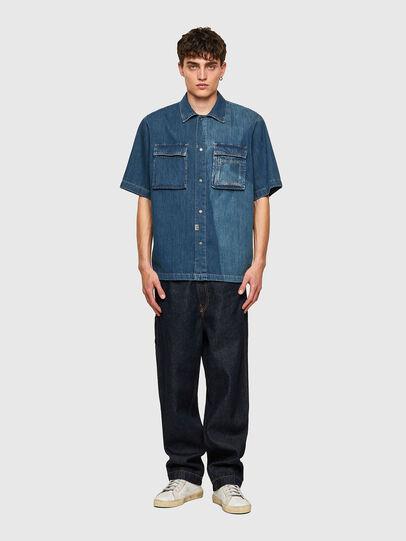 Diesel - D-GUNN-SP, Blu medio - Camicie in Denim - Image 5