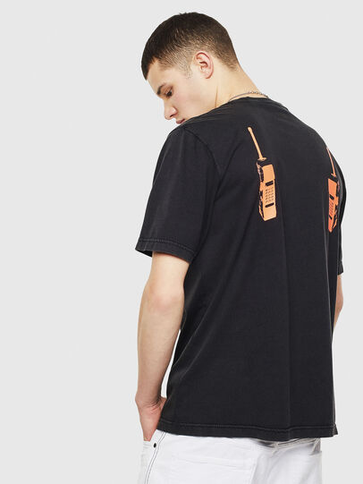 Diesel - T-JUST-T12, Nero - T-Shirts - Image 2